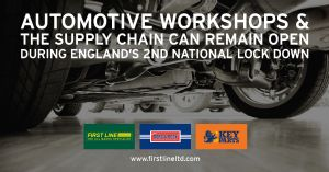 AUTOMOTIVE WORKSHOPS & THE SUPPLY CHAIN CAN REMAIN OPEN DURING ENGLAND'S 2ND LOCK DOWN